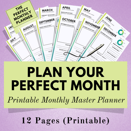 Image of Monthly Master Planner ~ Printable Planner
