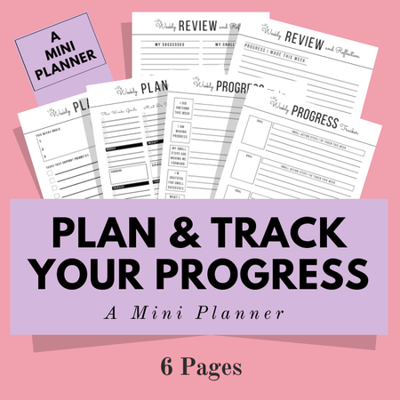 Image of Mini Planner ~ Plan, Review, Progress