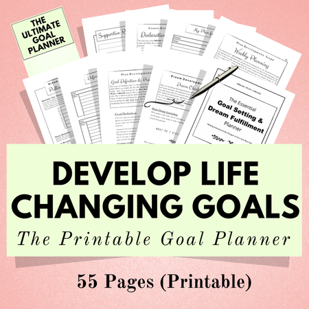 Image of Ultimate Goal Planner ~ Printable Planner