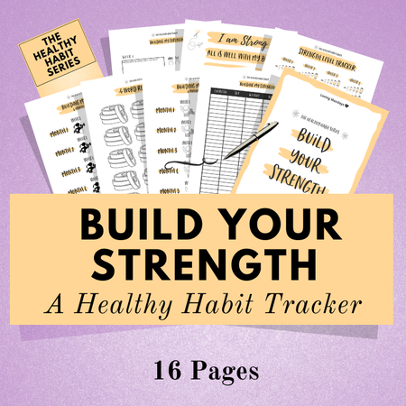 Image of Healthy Habit Tracker Kit ~ Build Your Strength