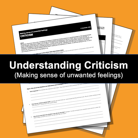 Image of Understanding Criticism (making sense of unwanted feelings)