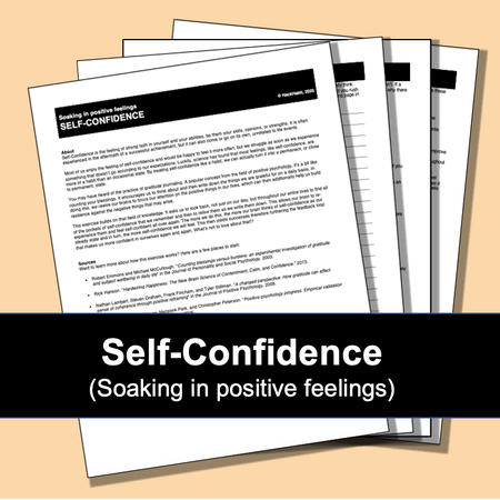 Image of Self-Confidence (soaking in positive feelings)